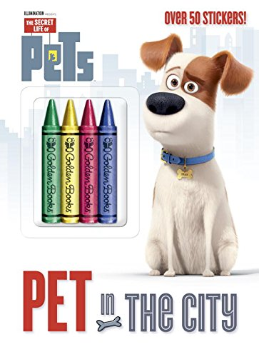 Pet in the City (Secret Life of Pets) (Color Plus Crayons and Sticker) - Golden Books