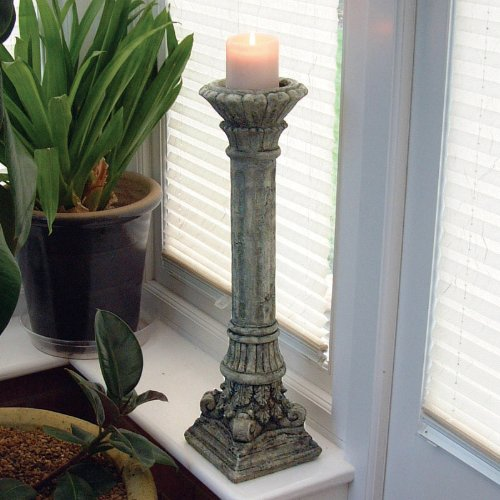 Garden Ornaments - Corinthian Stone Candlestick Sculpture