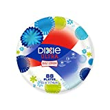 Dixie Ultra Plates, Family Pack, 88 Count, 6 7/8, Colors may vary