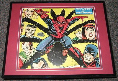 Amazing Spiderman Universe Framed 11x14 Photo Poster Display