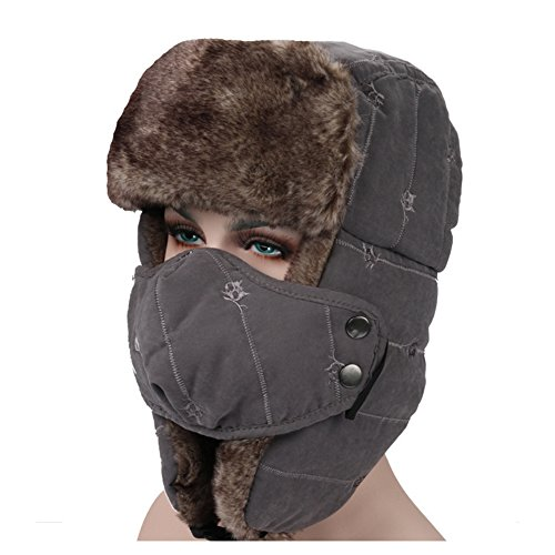 [Ezyoutdoor Unisex Winter Trooper Hat Trapper Hat Hunting Hat Ushanka Ear Flap Chin Strap and Windproof Mask for Outdoor Sport Ski Hat Cycling Motorbike] (Baby State Trooper Costume)