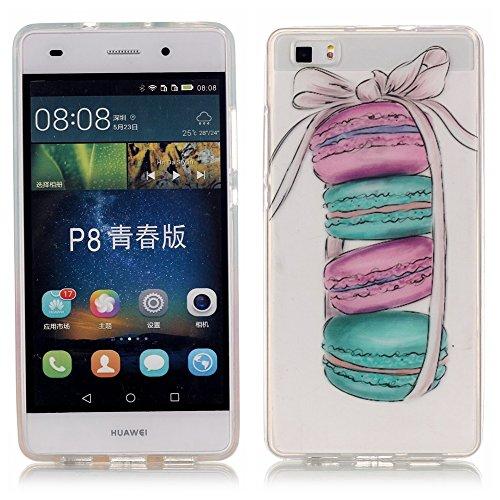 Ecoway copertura / coperture / insiemi di telefono / shell protettivi apparecchi telefonici mobili chiari e trasparenti Custodia TPU silicone Crystal per Huawei P8 Lite, case cover protettivo disegno speciale - pane