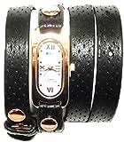 LAMERCOLLECTIONS ( ラメールコレクション ) アメリカ の スタイリッシュ 腕時計 black gold Wrap Watch ブラック ゴールド ロング バンド メーカー 保証切れ 海外 ブランド