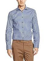 Seidensticker Camisa Vestir (Azul Oscuro / Blanco)