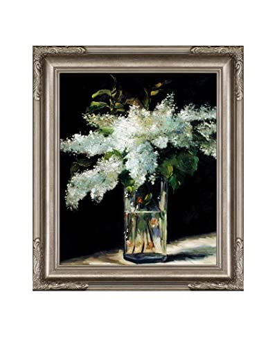 "Édouard Manet ""Lilacs In A Vase"" Framed Hand-Painted Oil Reproduction"