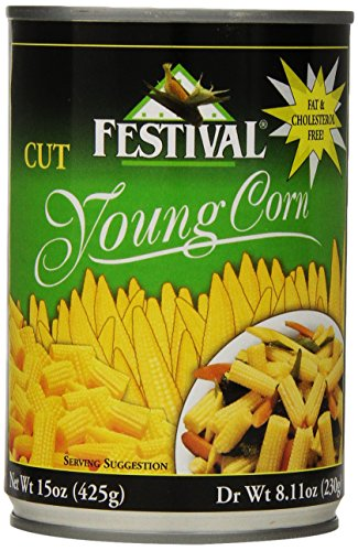Festival Cut Baby Corn, 15-Ounce (Pack of 12) (Chinese Food Corn compare prices)