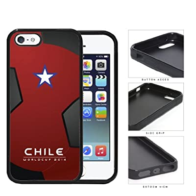 Chile World Cup 2014 Soccer Ball Rubber Silicone TPU Cell Phone Case Cover iPhone 5 5s