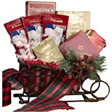Christmas Holiday Sleigh Gift Basket of Treats