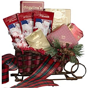 Art of Appreciation Gift Baskets Christmas Holiday Sleigh Basket