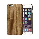 [PITAKA-正規品] iPhone 6 / iPhone 6s (4.7 インチ)用ケース 木製 ゼブラ天然木 天然木/天然ウッド wood 和風 線形 おもしろい アイフォン 6 / 6s ケース 薄 軽 耐衝撃 おしゃれ 高級品 強化ガラスフィルム付け
