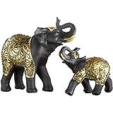 """Deko-Elefant """"Goldornament"""", 2er Set"""