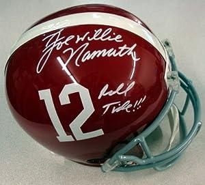 Joe Willie Namath Autographed Alabama Full Size Helmet Roll Tide!!! UDA #
