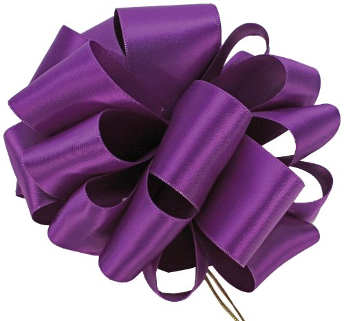 Offray Double Face Satin Craft Ribbon, 7/8-Inch Wide by 20-Yard Spool, Purple