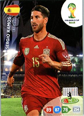 2014 FIFA Panini Adrenalyn World Cup Soccer Card Sergio Ramos Spain