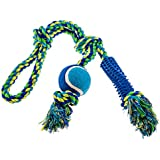 "21"" Dog Rope Toy - Tug of War Dog Toy - Strong, Safe Cotton Rope Dog Toy - Quality Pet Toys for Dogs - by BigUpBrands"