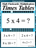 Flash Cards: Times Tables (Math flashcards: Multiplications (Math Ebooks))