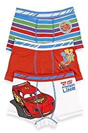 3 Pack Cotton Rich Disney Cars Trunks