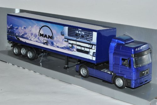 MAN F2000 40' Container Blau Truck LKW 1/43 New Ray Modell Auto