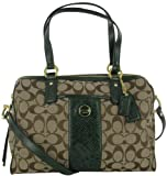 Coach F24884 Womens Shoulder Bag Signature Print Purse Brown