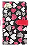 2016 Slim Black Padded Colourful Dotted Hearts Day to a Page Press Stud Diary 1707