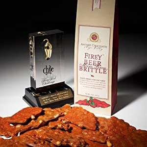 Brent's Micro Brew Firey Beer Brittle, 8 Ounce Bags by Anette's Chocolate Factory