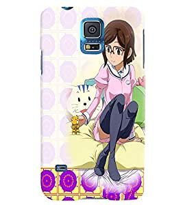 Fuson 3D Printed Girly Designer back case cover for Samsung Galaxy S5 - D4594