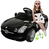 Black Mercedes Benz Sls R/c Mp3 Kids Ride on Car Electric Battery Toy Picture