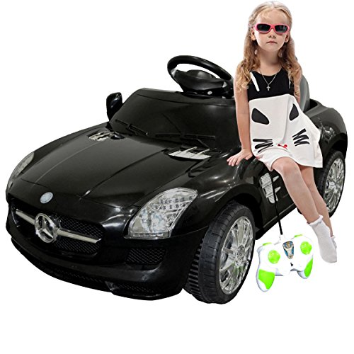 Black Mercedes Benz Sls R/c Mp3 Kids Ride on Car Electric Battery Toy by Giantex (Ride On Battery Car compare prices)