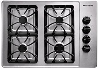 """Frigidaire FFGC3015L 30"""" Gas Cooktop with Sealed Gas Burners and Electronic Pilotless Ignition, Stainless Steel"""