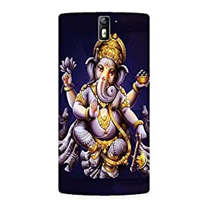 Stylish Dancing Ganesha Back Case Cover for One Plus One