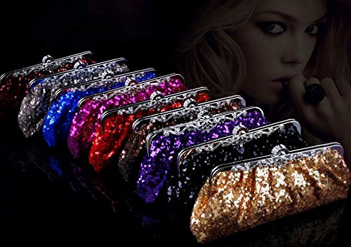 BEA148 Fully Sequined Smiple & Elegant Wedding Handbag Evening Party Purse Fashion Clutch Holiday Gift