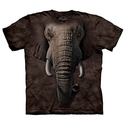 The Mountain Elephant Face Mens T-shirt L