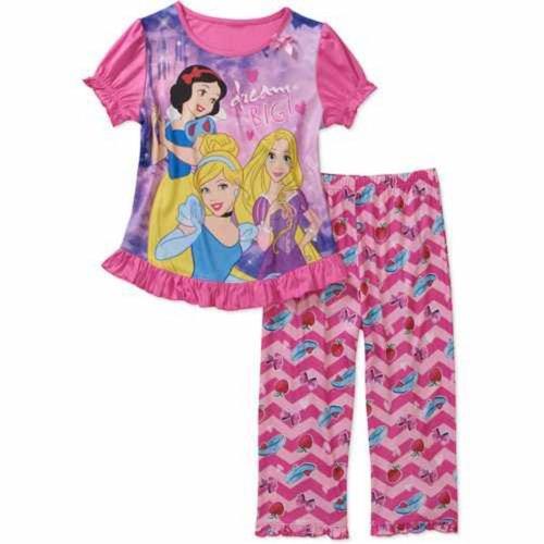 Disney Princess Girls Pajama Pants & Top Size 6/6X front-91771