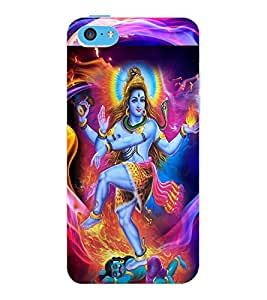 ColourCraft Lord Shiva Design Back Case Cover for APPLE IPHONE 5C