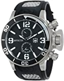 Invicta Corduba Men's Quartz Watch with Black Dial  Analogue display on Black Plastic Strap 0756