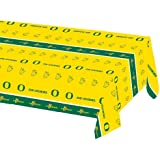 Creative Converting University of Oregon Plastic Table Cover, 54 by 108-Inch