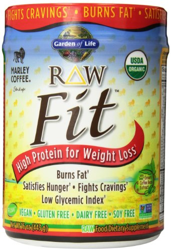 Garden of Life Organic Raw Fit Protein Marley Coffee 16 oz