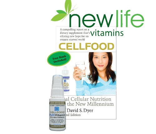 Cellfood Multivitamin With Free Cellfood Book By Dr. David Dyer - Free Shipping Offered By New Life Vitamins, Trusted With Your Nutrition Since 1998 - Limit One Book Per Order.