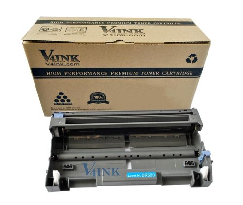 V4INK® New Compatible with Brother DR520 DR-520 DR620 DR-620 Drum Unit-25000 Page Yield for Brother HL-5240 HL-5250 HL-5270 HL-5280 HL-5340 HL-5350