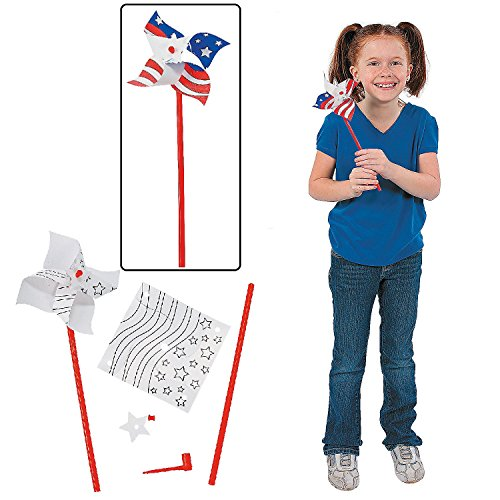 Color Your Own Patriotic Pinwheels - Crafts for Kids & Color Your Own - 1