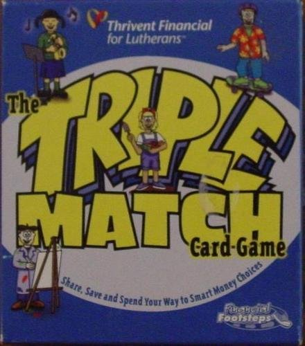 Triple Match Card Game - Share, Save and Spend Your Way to Smart Money Choices - 1