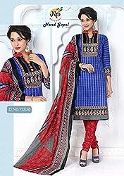 Balaji Fashion Women's cottan print suit D.NO7004_Multi-Coloured