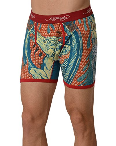 Ed Hardy Men s Cowboy And Horse Boxer Brief - Red …