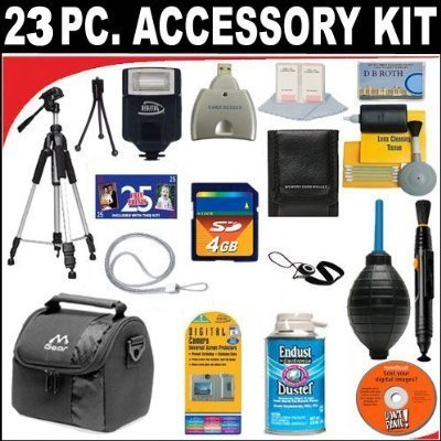 23 PC ULTIMATE SUPER SAVINGS DELUXE DB ROTH ACCESSORY KIT For The Sony Cybershot DSC-H200 Digital Camera