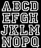 2-Inch Iron-On Jersey Letters in White Open Style