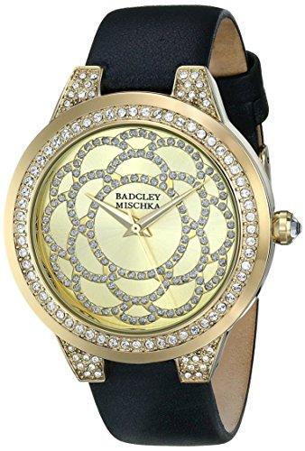 badgley-mischka-donna-ba-1330chbk-amazon-esclusivo-in-swarovski-cristallo-accentato-gold-tone-orolog