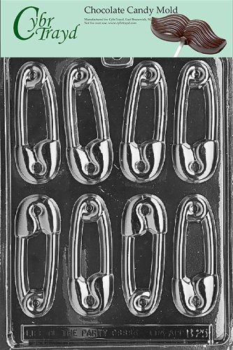 Cybrtrayd B025 Safety Pins Baby Chocolate Candy Mold front-857594