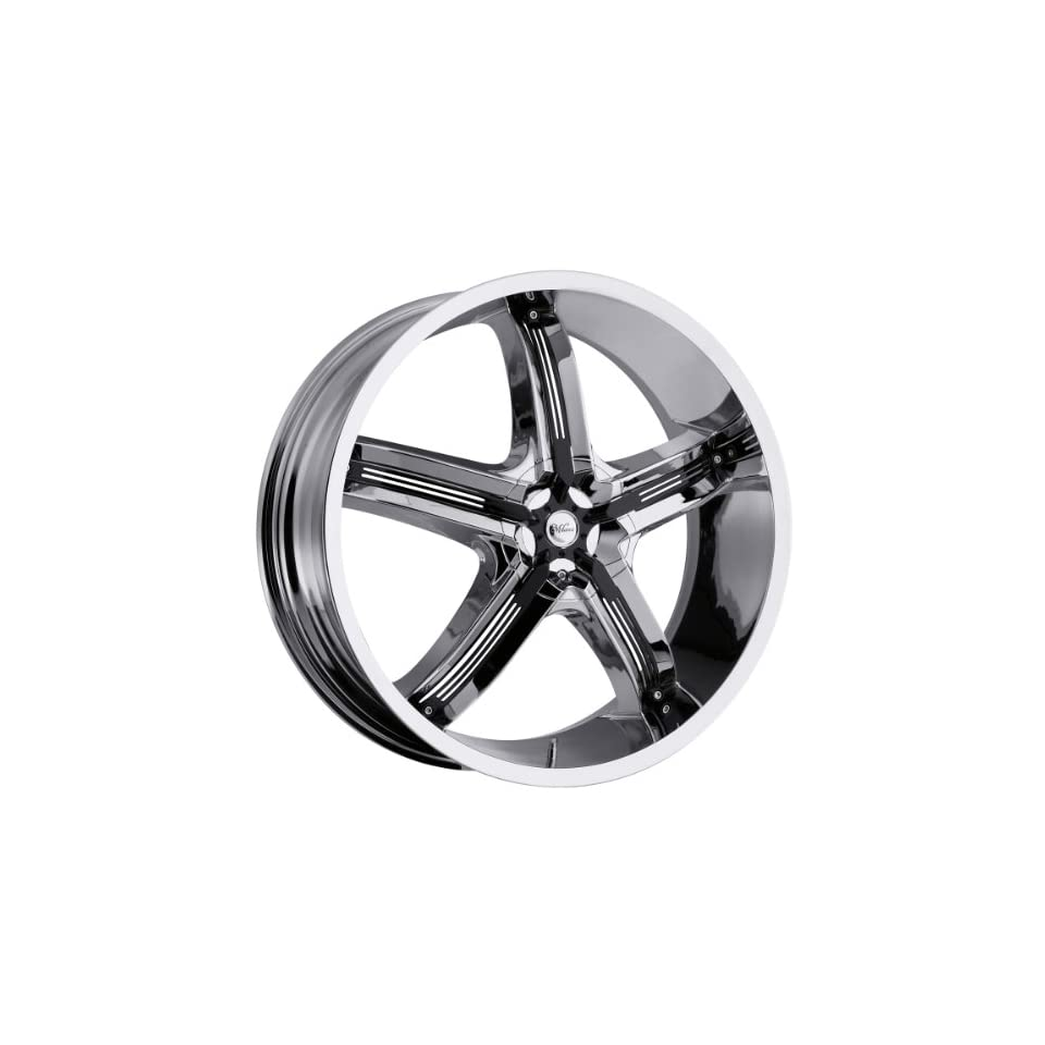 Milanni Bel Air 5 22 Chrome Wheel / Rim 5x110 & 5x115 with a 32mm Offset and a 74.1 Hub Bore. Partnumber 459 22868C32