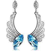 Yellow Chimes Swarovski Elements Classic Style Designer Crystal Earrings for Girls and Women