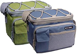 Subzero 6 Can Collapsible Cooler / Lunch Box in Sage or Blue - Color Varies